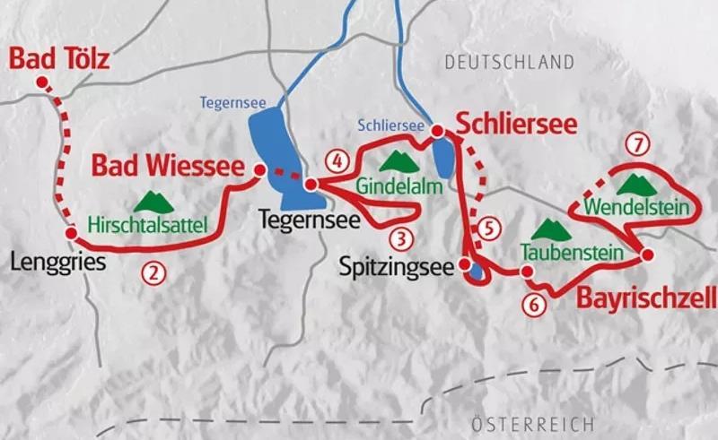 Bayerns Alpen und Seen - Karte